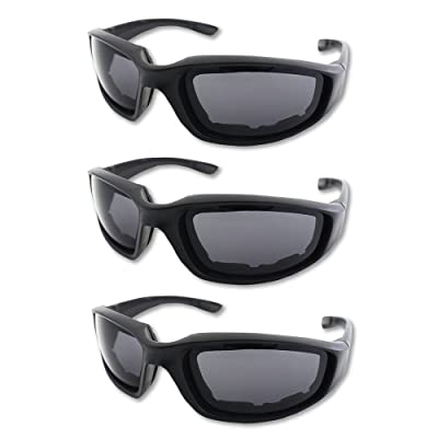 3 Pair Motorcycle Riding Glasses Padding Goggles UV Protection Dustproof WindproofMotorcycle Sunglasses with Clear Lens for Outdoor sports Actives: Automotive [5Bkhe1501840]