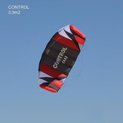 Flexi foil 1.7 M² / 2.4 m2/3rd 3M2 control 3-line kitesurf Kite como entrenador travetti -, líneas - y liberación rápida Sistema de seguridad con 90 días ...