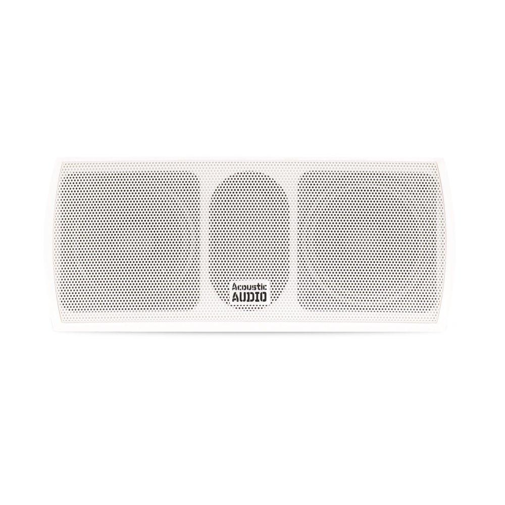 Acoustic Audio AA32CW Mountable Indoor Center Speaker 300 Watts White Bookshelf