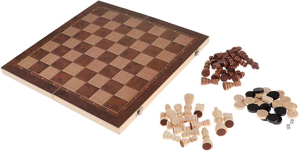 non-brand 3 En 1 Juego Damas Ajedrez y Piezas - 39 x 39 cm: Amazon.es: Juguetes y juegos