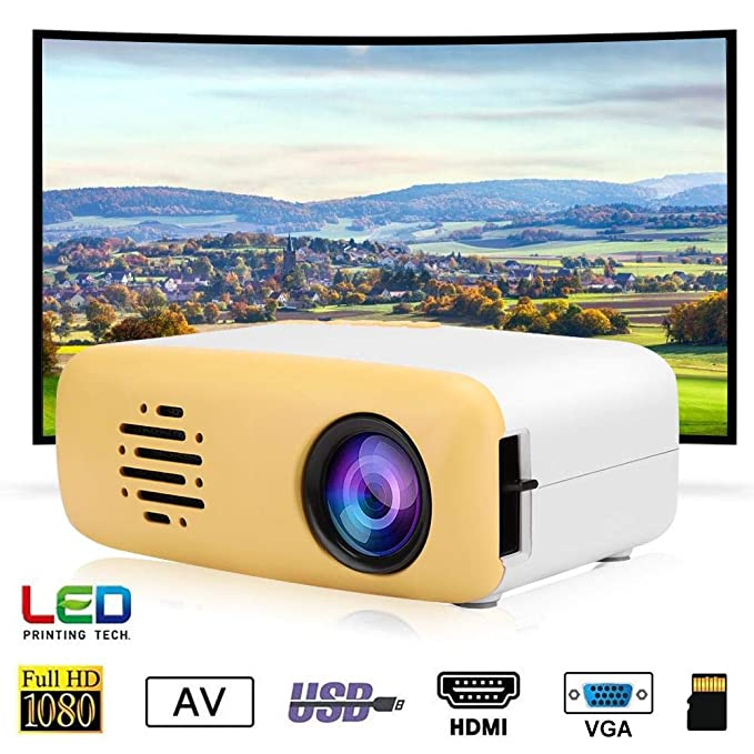 Wendry Mini Proyector,Mini Cute LED HD 1080P Proyector,Muy ...