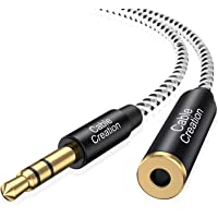 CableCreation 6 Feet 3.5mm Male to Female Extension Stereo Audio Extension Cable Adapter, Slim and Soft Aux Cable with…