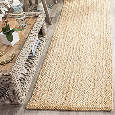 "Safavieh NF461A-212 Natural Fiber Collection Multi Runners, 2'6"" x 12', - These rugs are made of Natural materials such as jute, Sisal, and sea grass Each rug is Hand made and Hand Woven Great for any home, from a beach house to a City apartment - runner-rugs, entryway-furniture-decor, entryway-laundry-room - 61kbY8tJO3L. SS400  -"