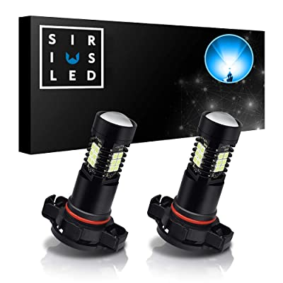 SIRIUSLED 5202 Ice Blue Color LED Fog Light DRL Projector lens Super Bright Plug and Play Aluminum Body Pack of 2: Automotive