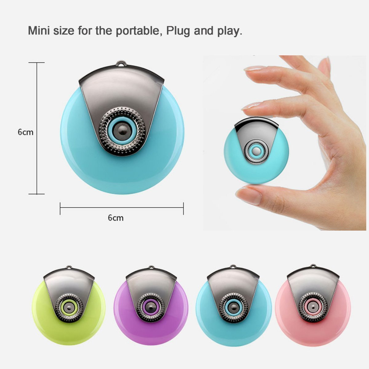 Mini facial sauna for phone,Humidifier Cell Phone Beauty Mist Spray Diffuser, Portable Mobile Phone Filling Water Meter for iPhone7/7plus/ 5/5s/5c/6/6s Plus/SE (Blue)