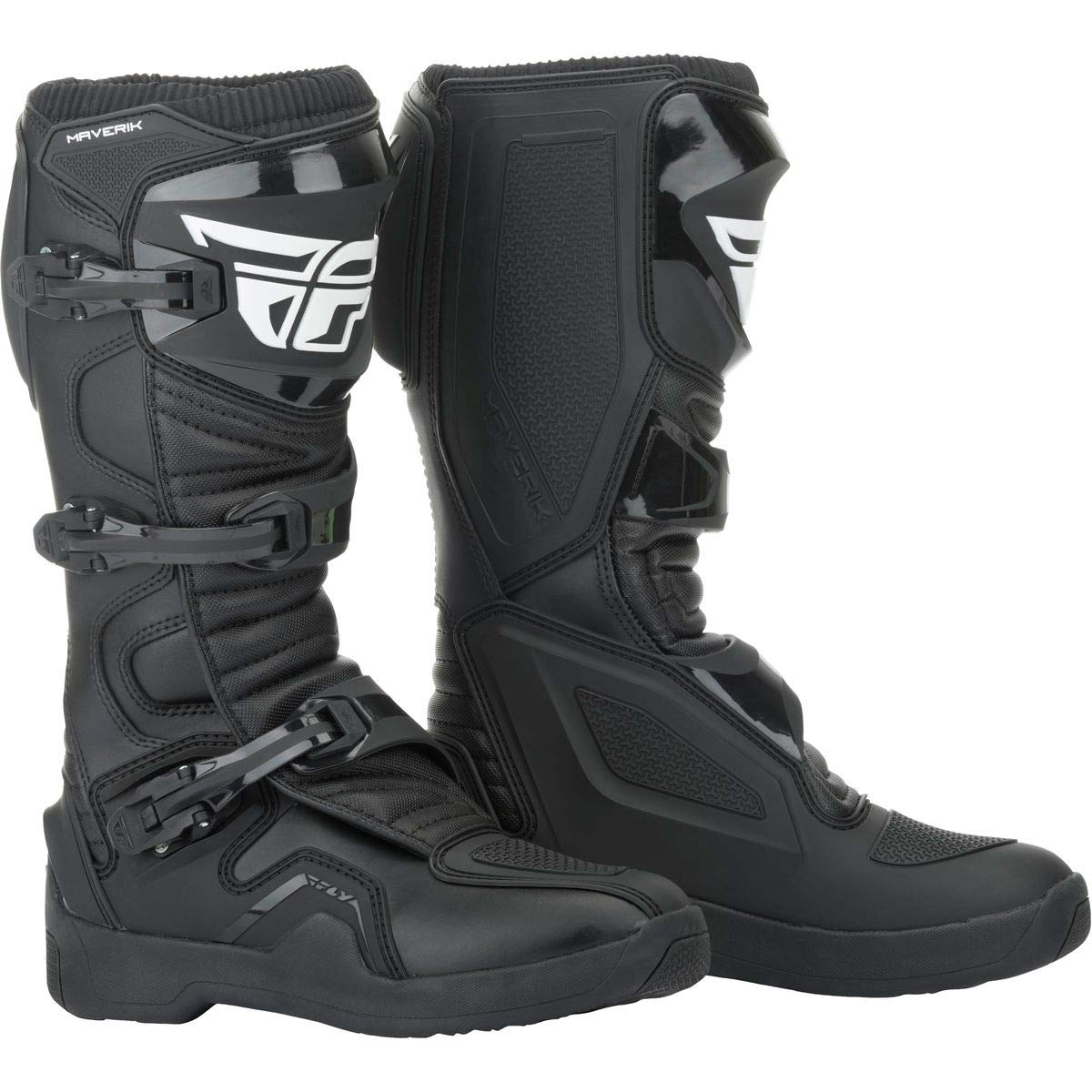 Fly Racing 2019 Maverik Boots (13) (Black) by Fly Racing