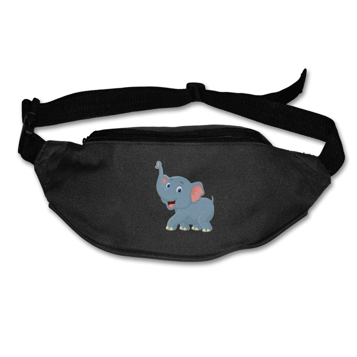 Waist Purse Cute Cartoon Elephant Graphic Unisex Outdoor Sports Pouch Fitness Runners Waist Bags