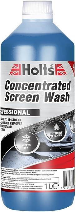 Líquido concentrado para limpiaparabrisas, frasco de 1 litro, código HSCW1001A, de Holts: Amazon.es: Coche y moto