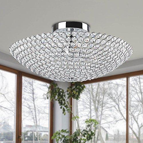 Bowl chandelier amazon jojospring leila 3 light bowl shaped flush mount mozeypictures Gallery