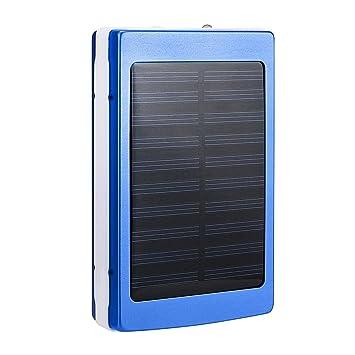 zolimx Cargadores Solares, 30000mAh Universal Portátil USB Doble Cargador de Batería Solar Externa Potente Banco de Energía LED Luz Solar con Cables ...