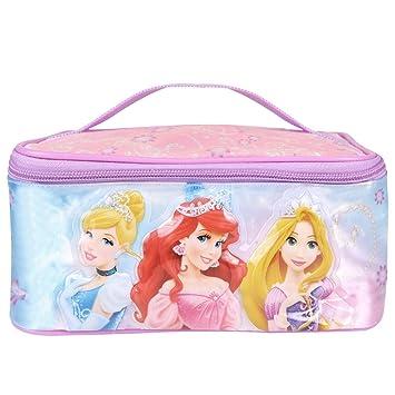 ff6f9c233 Neceser Viaje para Niña Princesas Disney - Bolso Cosmético y de Maquillaje  Rectangular con agarradera -