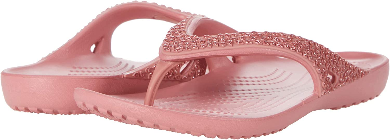 Crocs 205635 KADEE II SEASONAL FLIP Ladies Toe Post Flip Flops Floral//Candy Pink
