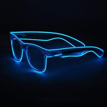 an vorderster Front der Zeit 60% günstig Markenqualität Zeagro Draht-Sonnenbrille mit LED-Licht, Blau, 1 Stück ...