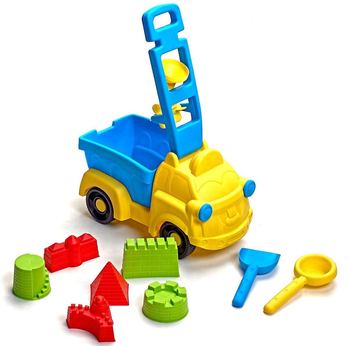 Beach Toys Deluxe Set 9 pieces Large Dump Truck Sand Molds Set bo toys