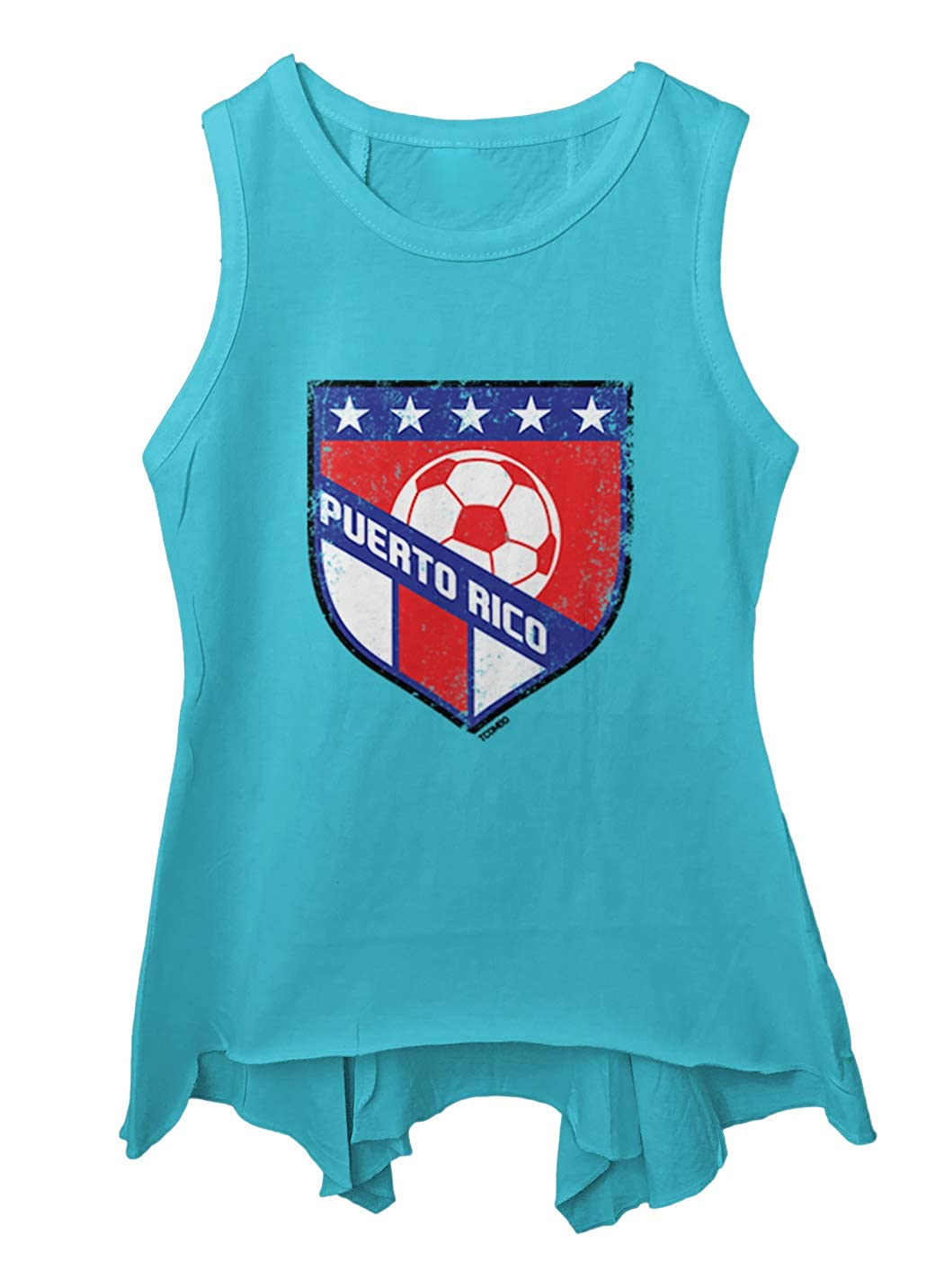 Puerto Rico Soccer Distressed Badge Toddler//Youth Sleeveless Backswing