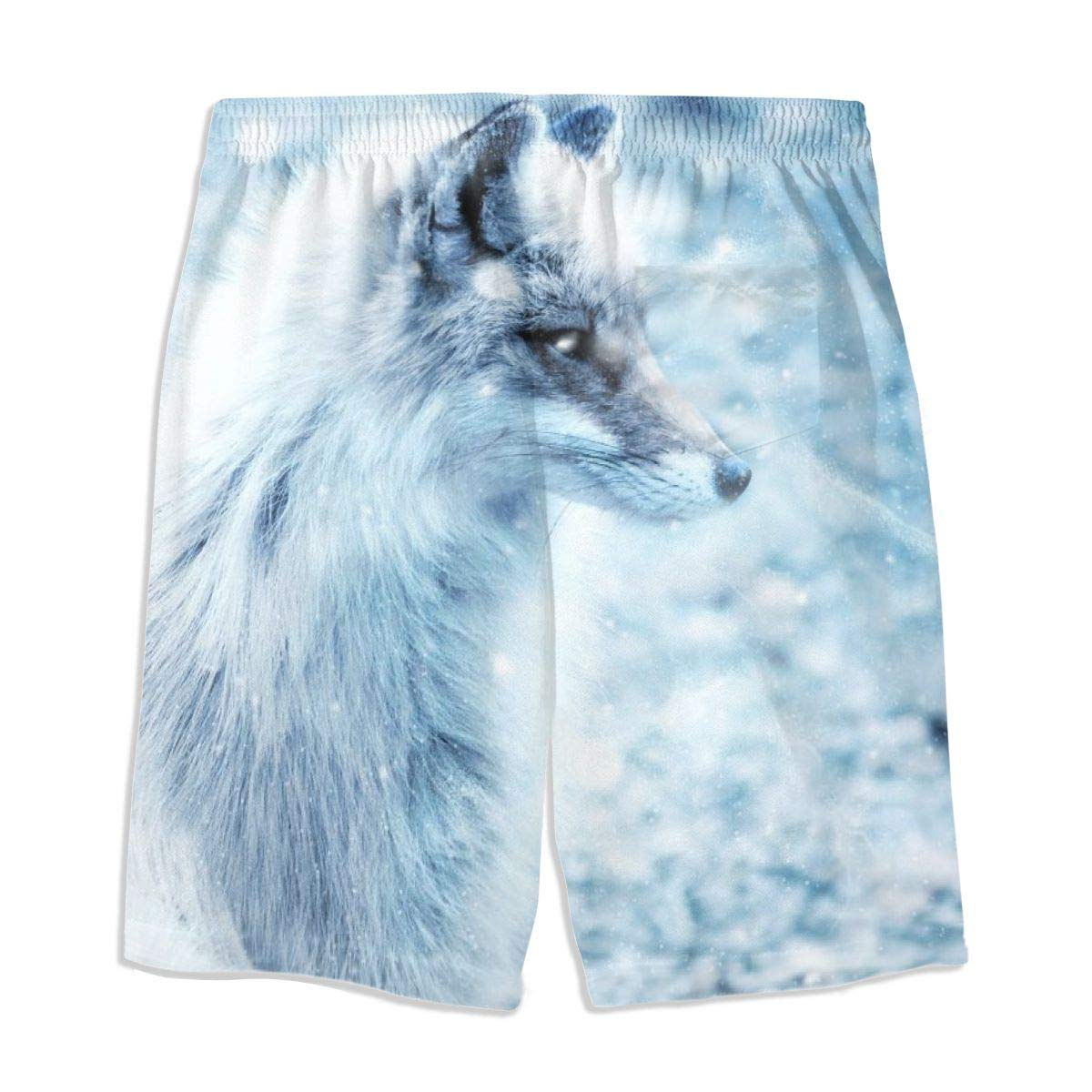 Boys Comfortable Hawaii Beach Cross-Country Casual Style Beach Shorts Swim Trunks Board Shorts