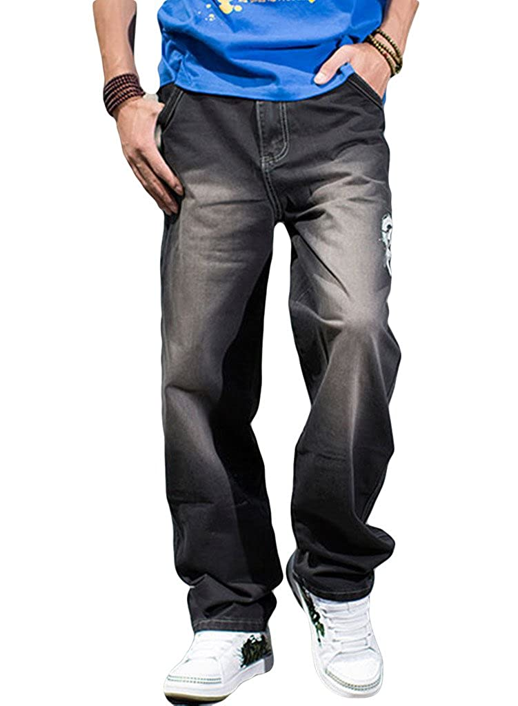 Sexyggs Men's Washed Demin Jeans Black Plus Size Wear Comfortable