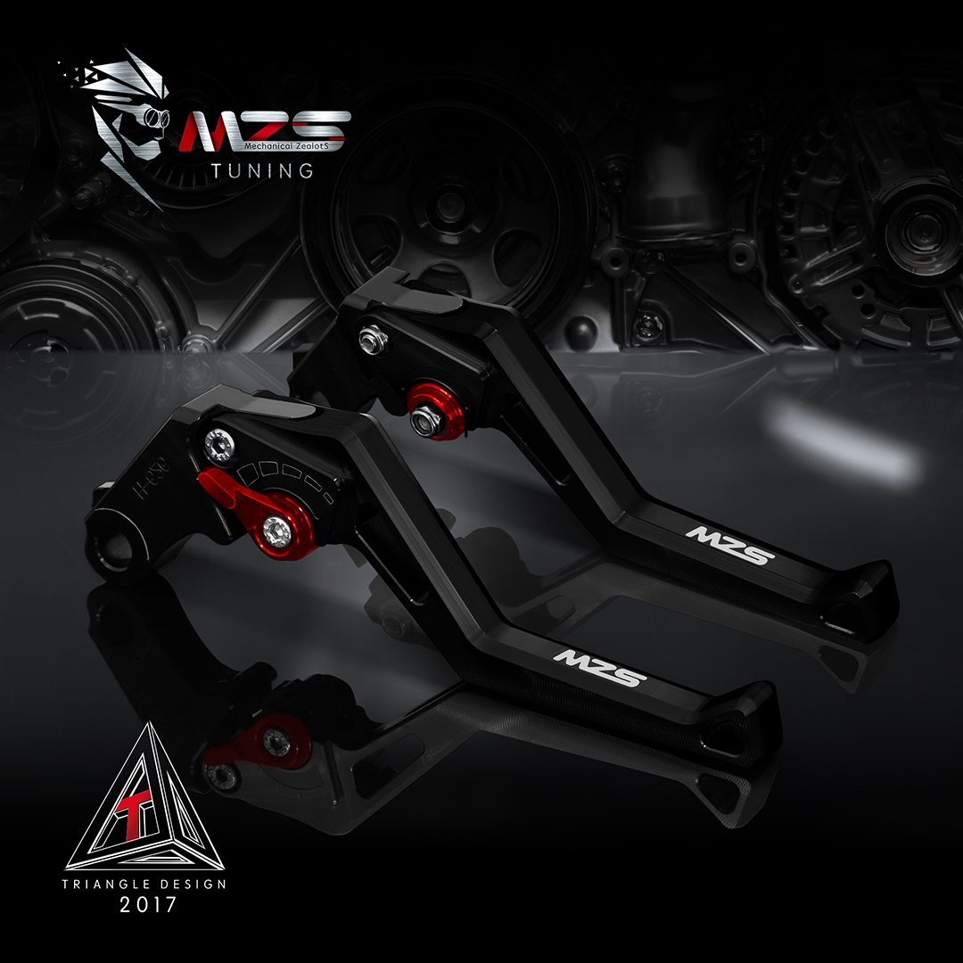 MZS Short Levers Adjustment Brake Clutch CNC for Suzuki GS500 1989-2008// GS500E 1994-1998// GS500F 2004-2009// GSF600 Bandit 1995-2004// GSF600S Bandit 1996-2003// GSF250 Bandit All Years Black