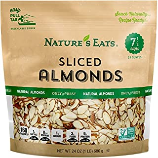 Nature's Eats Natural Sliced Almonds, 24 Ounce