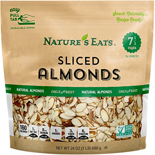(Nature's Eats Natural Sliced Almonds, 24)