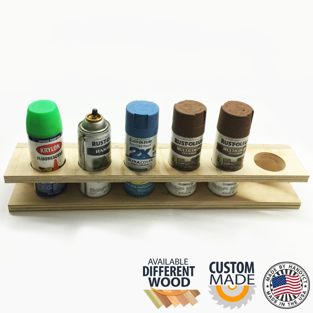 Aerosol Can Storage Rack (Made in the USA) for 5 bottles paint.