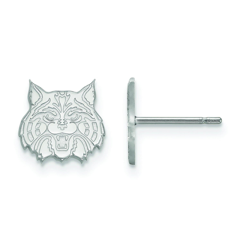 Arizona Extra Small ( 3 / 8インチ)ポストイヤリング( 10 Kホワイトゴールド)   B01IYEW4DO