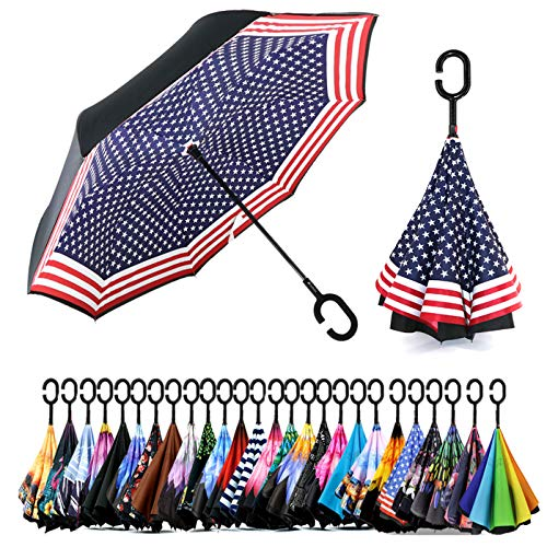 Siepasa Double Layer Inverted Umbrella With C-Shaped Handle