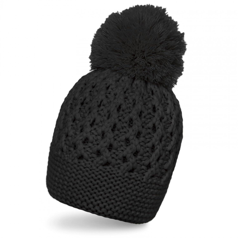 CASPAR Damen klassische Winter Mütze / Pudelmütze / Bommelmütze / Strickmütze mit schönem Strickmuster und großem Bommel - viele Farben - MU086