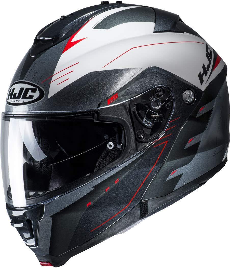 XL Gris//Blanc Casque moto HJC IS MAX II CORMI MC1