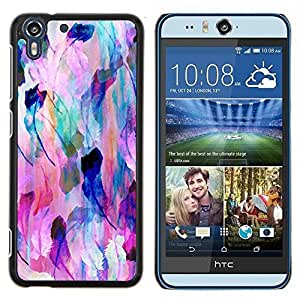 - nature feather pastel art colors - - Modelo de la piel protectora de la cubierta del caso FOR HTC Desire EYE M910x RetroCandy
