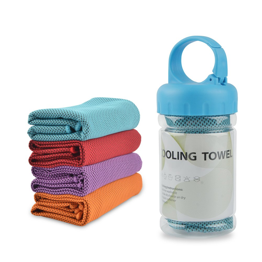 "TANCANO Cooling Towel Microfiber Sports Towel Sweat Towel for Golf Workout Swimming Gym Yoga Travel Camping Fitness 40""x12"" Sweat Towel"