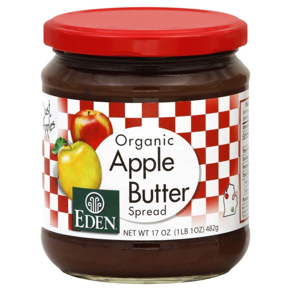 Eden Apple Butter, Organic 17.0 OZ(Pack of 4)