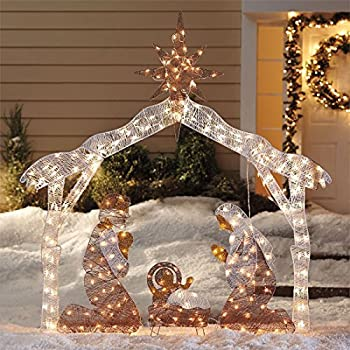 Brylanehome Crystal Splendor Outdoor Nativity Scene (White,0)
