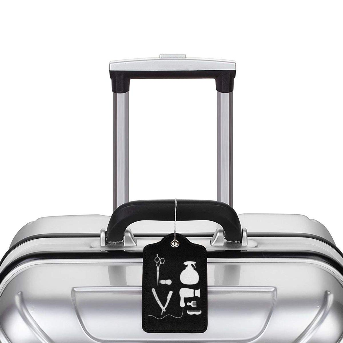 BARBER SALON HAIRDRESSER LOVE Leather Luggage Tag Travel ID Label For Baggage Suitcase