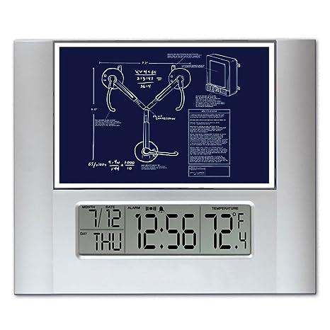 Regreso al futuro con texto de condensador de montaje en pared o iposters planos Digital reloj