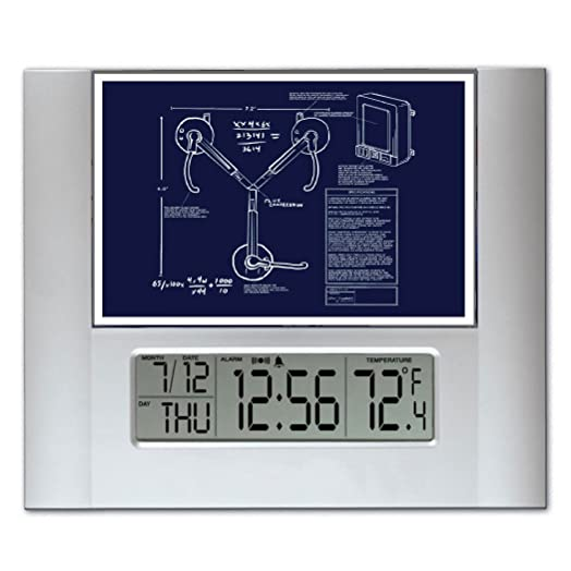 Back to the future flux capacitor blueprint plans digital wall or back to the future flux capacitor blueprint plans digital wall or desk clock with temperature and malvernweather Gallery