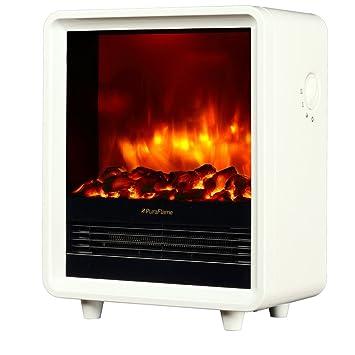 PuraFlame 12u0026quot; Octavia Portable Electric Fireplace Heater, 1500W, ...