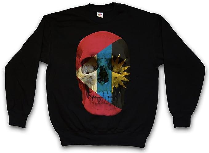 Urban Backwoods Classic Antigua and Barbuda Skull Flag Sudadera para Hombre Sweatshirt Pullover - Bandera cráneo