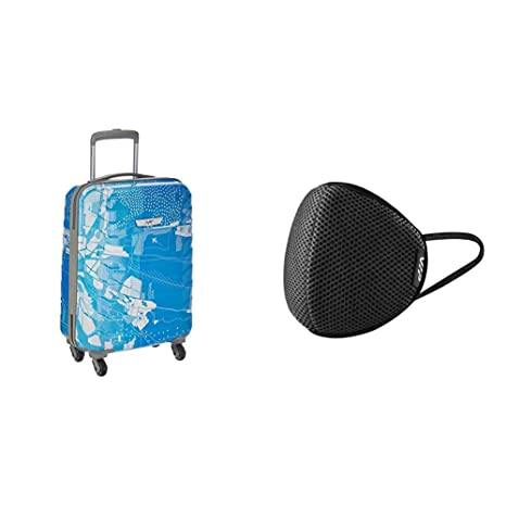 Buy Skybags Trooper 55 Cms Polycarbonate Blue Hardsided Cabin