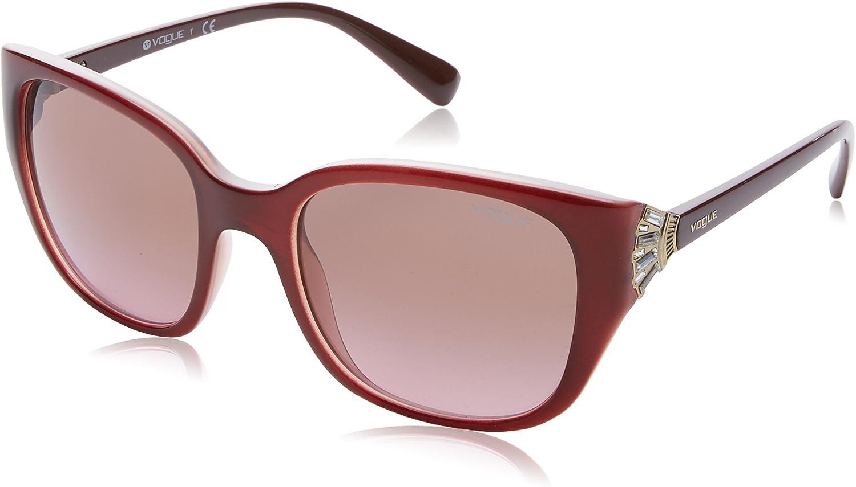 Vogue 0Vo5092Sb Gafas de Sol, Top Dark Havana/Brown, 53 para Mujer