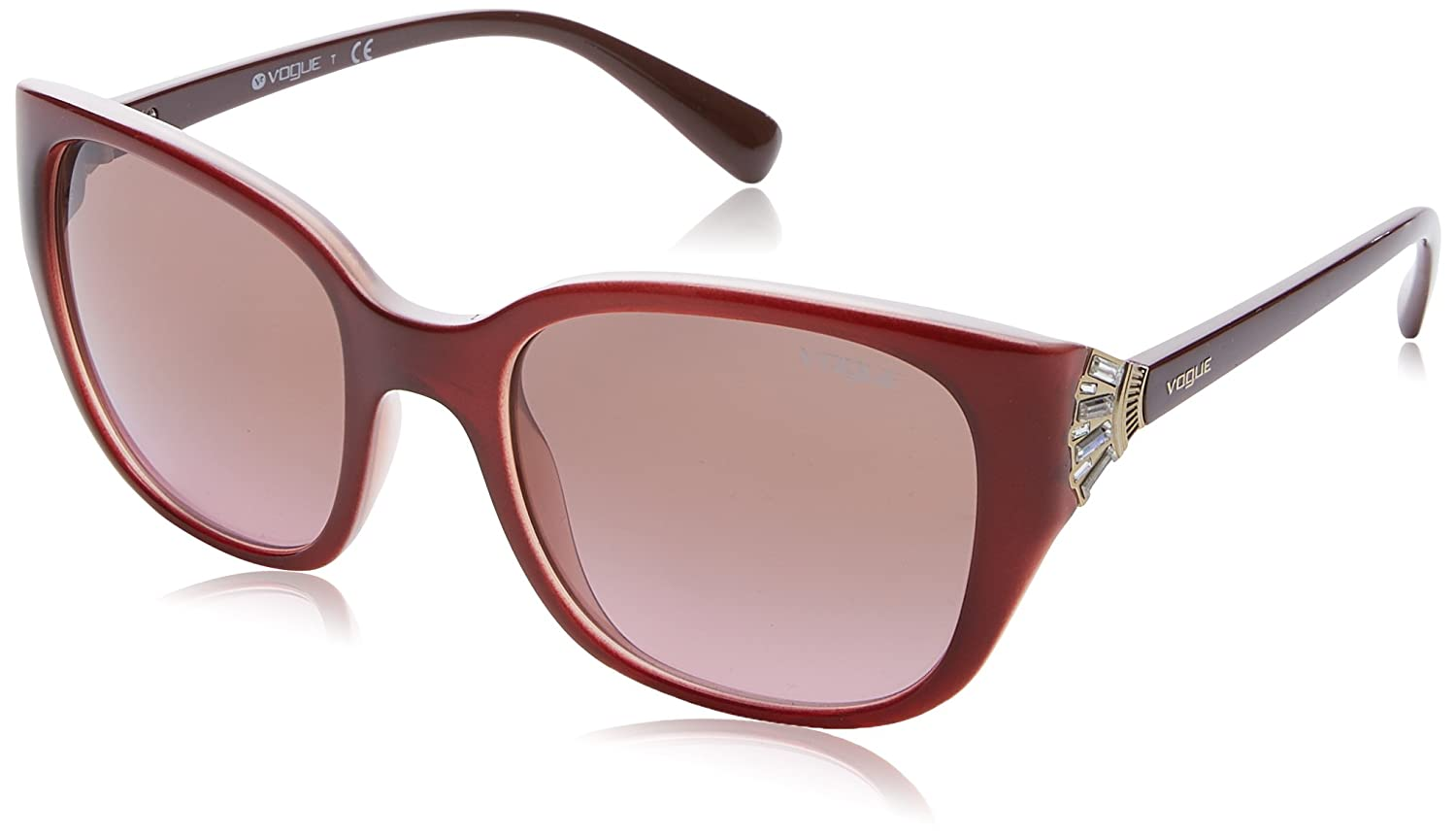 Vogue 0Vo5092Sb Gafas de sol, Top Dark Havana/Brown, 53 para Mujer