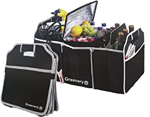 Car Boot Storage Bag Organiser Folding Tidy Heavy Duty Car Trunk SUV Back Seat Booster Cargo Carrier Box Collapsible Shopping Travel Camping Picnic Barbecue Food Carrying Holder-Car and Tool Organizer