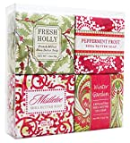 Christmas Holiday Soap Sampler - Boxed Set of 4 Assorted Scents