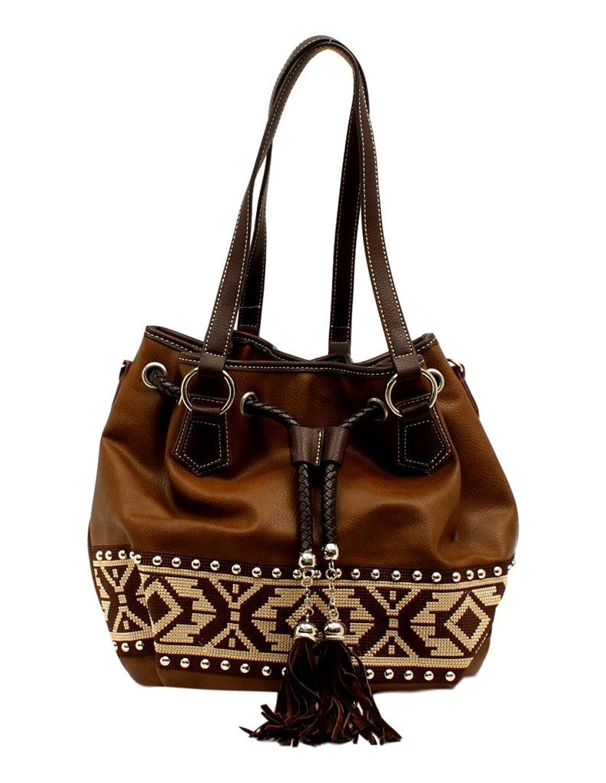 Blazin Roxx Western Handbag Womens Bucket Shania Aztec Brown N7587502