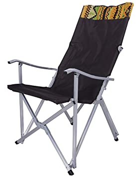 Silla para Acampar al Aire Libre/Silla Deportiva Ultraligera, Silla Plegable de Aluminio, portátil, Viaje, Playa, Picnic (marrón): Amazon.es: Hogar
