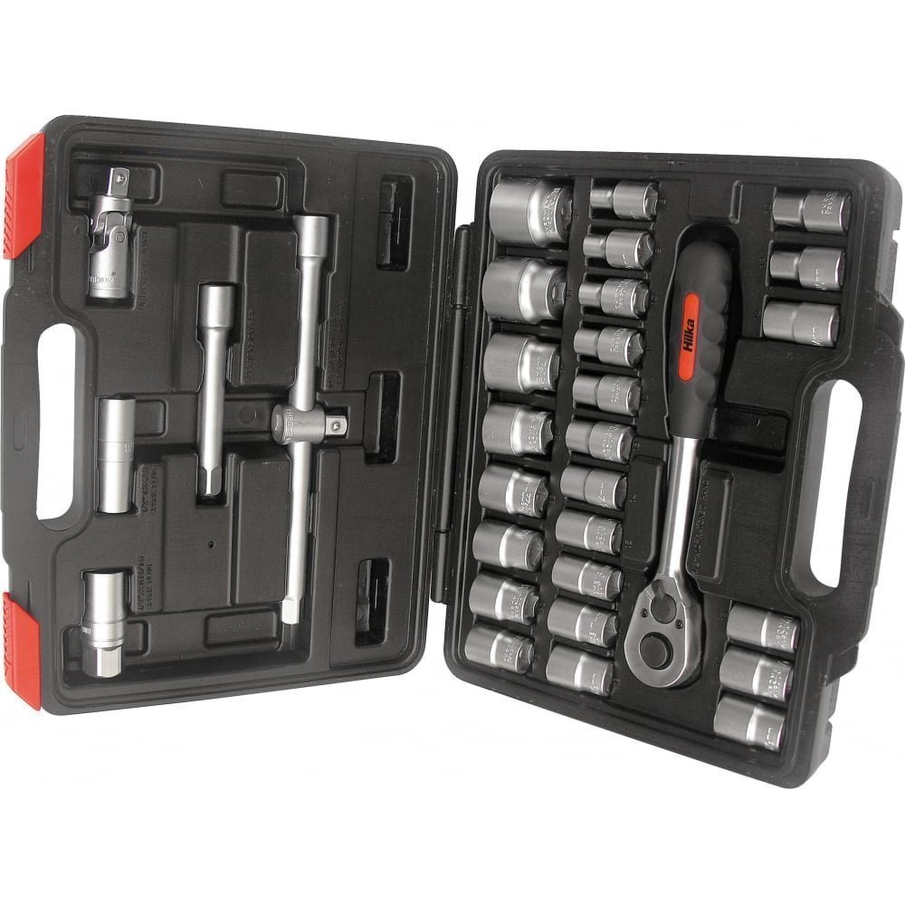 Hilka 01123202 32pce 1//2-inch Drive Socket Set