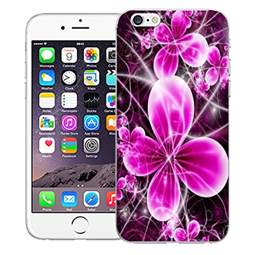 """Mobile Case Mate iPhone 6 4.7"""" Silicone Coque couverture case cover Pare-chocs + STYLET - Cheerful Floral pattern (SILICON)"""