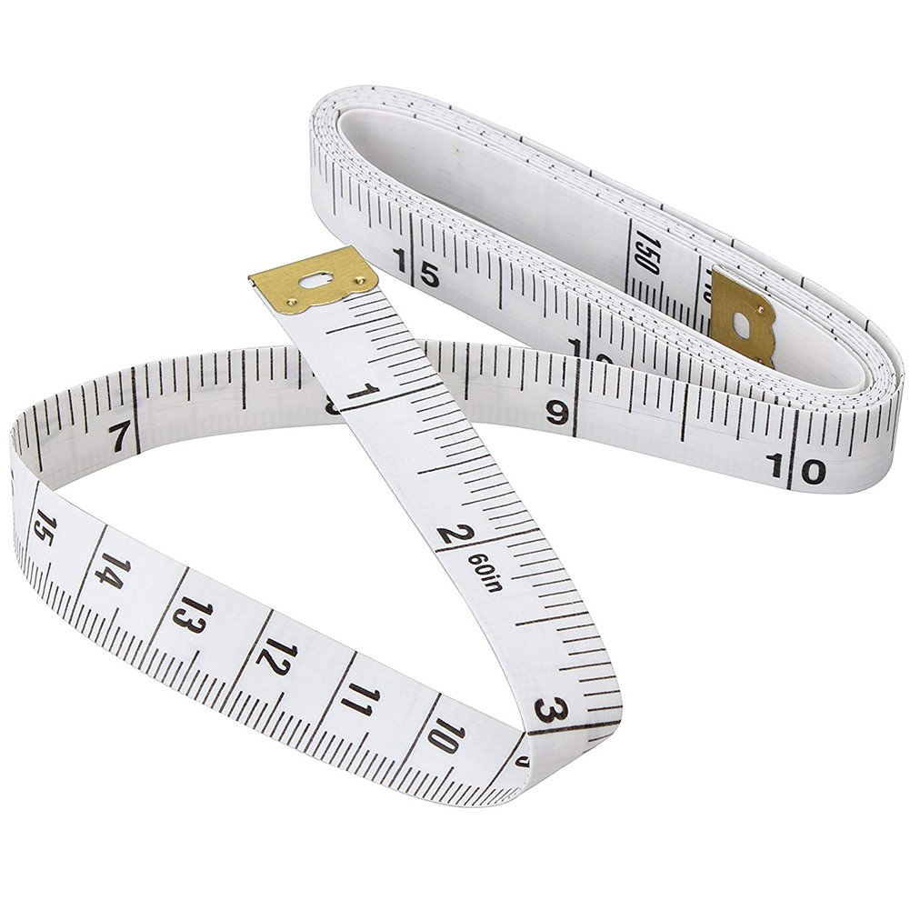 60 Soft Tape Measure for Sewing Tailor Cloth Ruler (White), 1.5M Flexible Ruler for Measuring Weight Loss Body Measurement Sewing Tailor Dressmaker LemonWonder