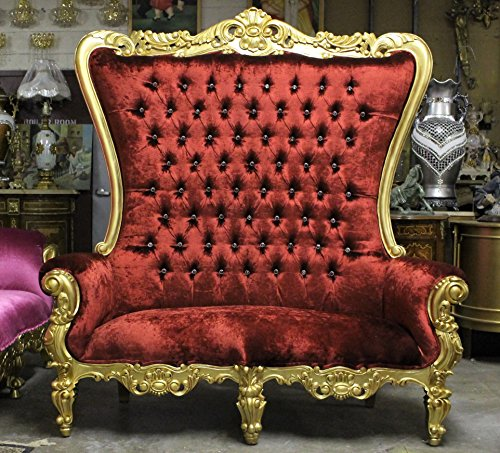 Red Gold Crystal Tufted