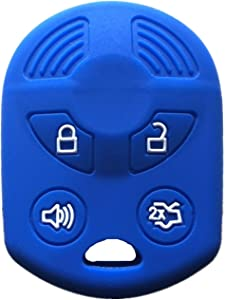 Rpkey Silicone Keyless Entry Remote Control Key Fob Cover Case protector Replacement Fit For Ford Lincoln Mercury OUCD6000022 164-R8046 164-R7040 CWTWB1U722